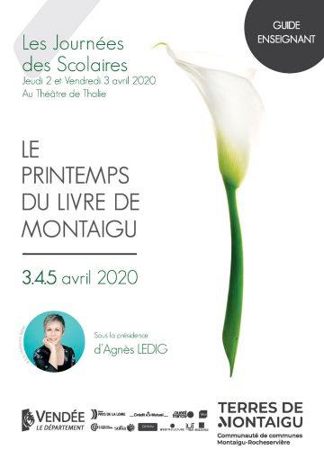 Image : Couverture : Guide enseignant - Printemps du livre 2020 - Terres de Montaigu