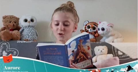 Photo : Aurore Vallas, gagnante des Petits champions de la lecture 2020